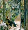 Zorn I vardinnans tradgard  1882, akvarell Watercolour