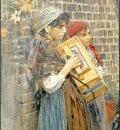 Zorn Italienska gatumusikanter  1882, akvarell Watercolour