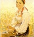 Zorn Orsakulla i ragaker  1878, akvarell Watercolour