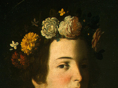 Zurbaran Saint Lucy, detlalj 3, c  1625 1630, NG Washington