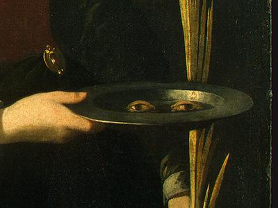Zurbaran Saint Lucy, detlalj 4, c  1625 1630, NG Washington