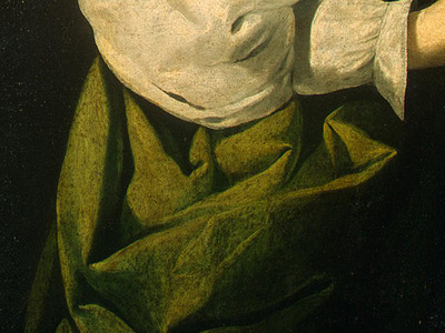 Zurbaran Saint Lucy, detlalj 5, c  1625 1630, NG Washington