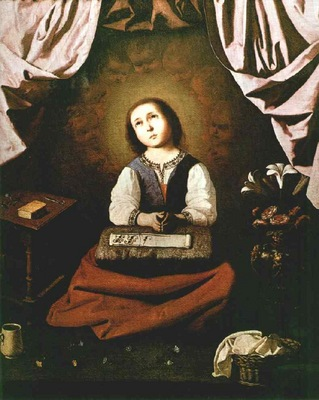 Zurbaran The young virgin, 1632, Metropolitan Museum of Art,