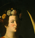 Zurbaran Saint Lucy, detlalj 2, c  1625 1630, NG Washington