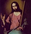 Zurbaran The Savior Blessing, 1638, 99x71 cm, Prado