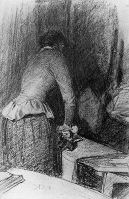 Zwart de Willem Woman ironing Sun