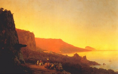 aivazovsky evening in the crimea, yalta