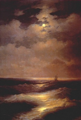 aivazovsky moonlight sea