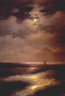 aivazovsky moonlight sea