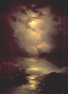 aivazovsky storm in the north sea