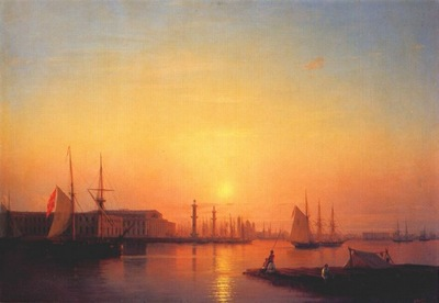 aivazovsky the st petersburg stock exchange