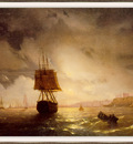 Aivazovsky The Harbor at Odessa on the Black Sea sj
