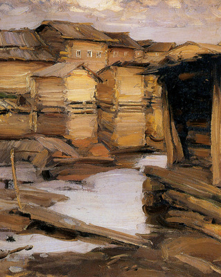 Arkhipov Abram Northern village Sun