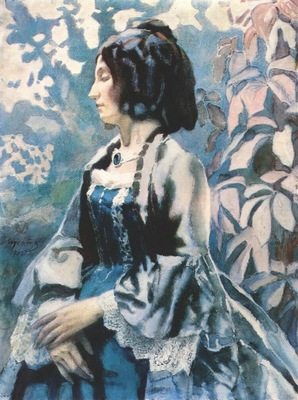 borisov musatov lady in blue