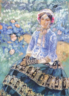 borisov musatov lady in blue dress