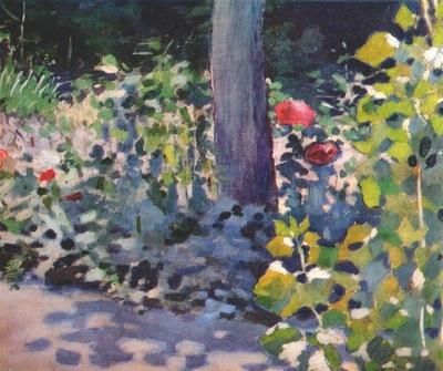 borisov musatov poppies in a garden