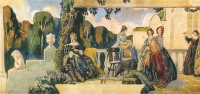 borisov musatov summer melody sketch for a panel 1904