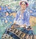 borisov musatov lady in blue dress
