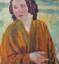 borisov musatov woman wearing yellow shawl