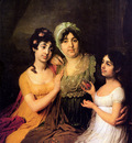Borovikovsky Vladimir Anna Bezborodko and daughters Sun