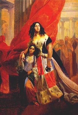 briullov countess yulia samoilova retiring from ball pre1843