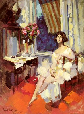Korovin Constantin Alexeievitch A Ballerina In Her Boudoir