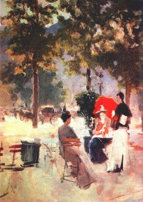 korovin parisian cafe 1890s