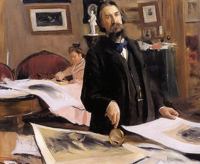 Kustodiev Boris Professor Vasily Mathe Sun