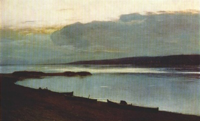 levitan evening on the volga 1886