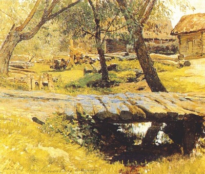 levitan small bridge, savvinskaia village