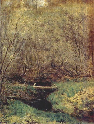 levitan spring in the forest