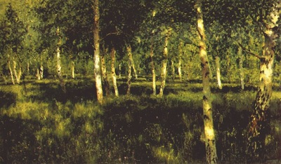 levitan the birch grove 1885