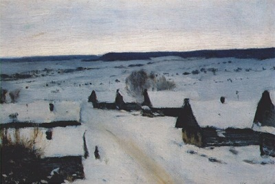 levitan village, winter 1880s