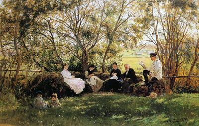 Makovsky Konstantin In a park Sun