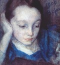 malyutin portrait of the artists daughter