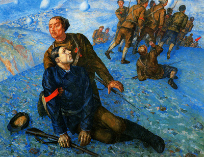 Petrov Vodkin Kuzma Death of a commisar Sun