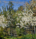 Petrovichev Pyotr Blossoming cherry trees Sun