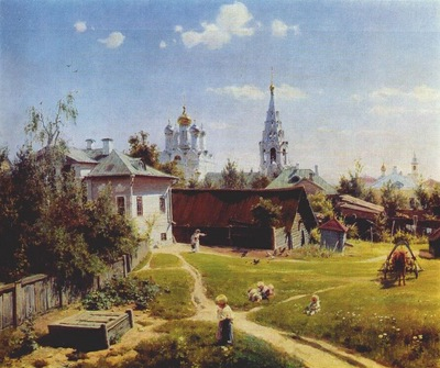 polenov a courtyard in moscow
