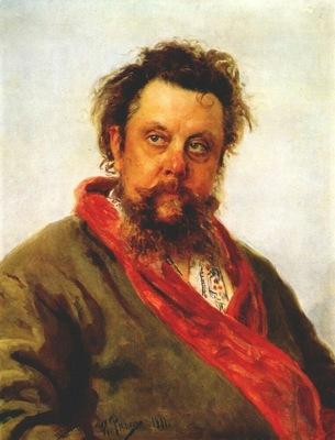 repin portrait of mussorgsky
