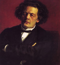 Repin Iliya Portrait of the pianist conductor and composer A G  Rubinstein