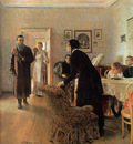 repin they did not expect him 1884