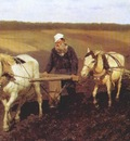 repin a ploughman leo tolstoy ploughing