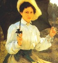 repin in the sun artists daughter nadia repin