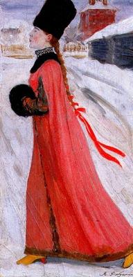 ryabushkin a 17th century muscovite girl