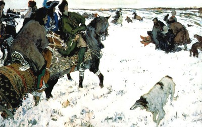 serov peter the great riding to hounds
