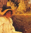 serov in summer, portrait of olga serova
