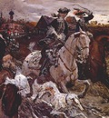 serov peter ii and princess elizabeth riding to hounds
