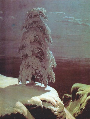 shishkin a pine there stands in the northern wilds