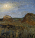 Utkin Pyotr Night haystacks Sun