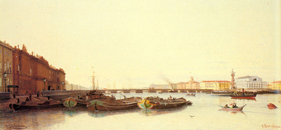 Weretshchagin Piotr Petrovitch A View Of St Petersburg